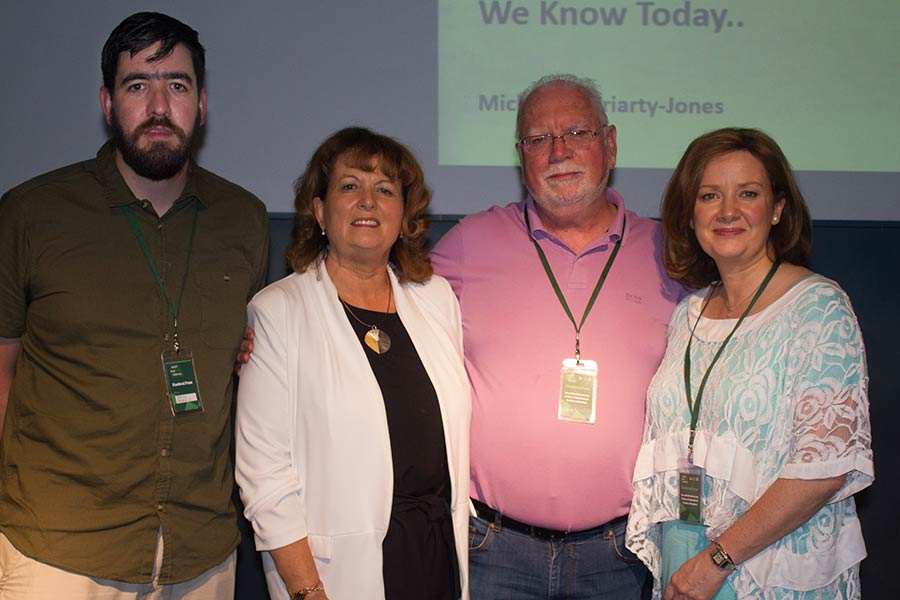 Colin Farrell, Mairead Ashe-Moriarty, Dave Farrell and Michele Moriarty Jones at the Thomas Ashe Symposium and Screening Tralee