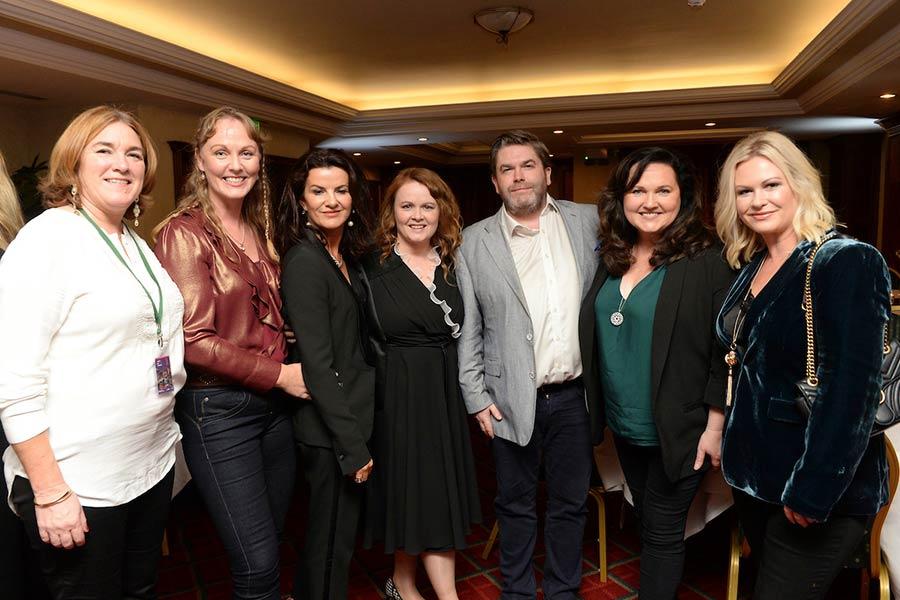 Deirdre O'Kane presented with Maureen O'Hara Award at Kerry International Film Festival 2018