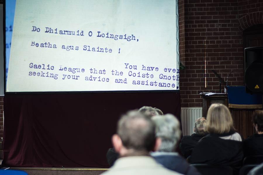 Diarmuid Lynch at the Methodist Church